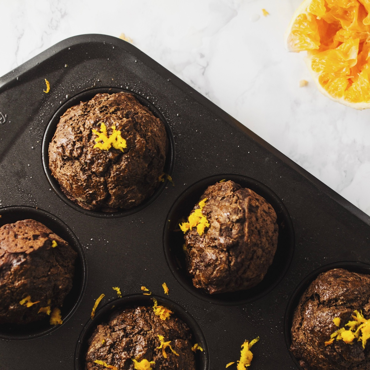 Double-Chocolate Orange & Sage Muffins