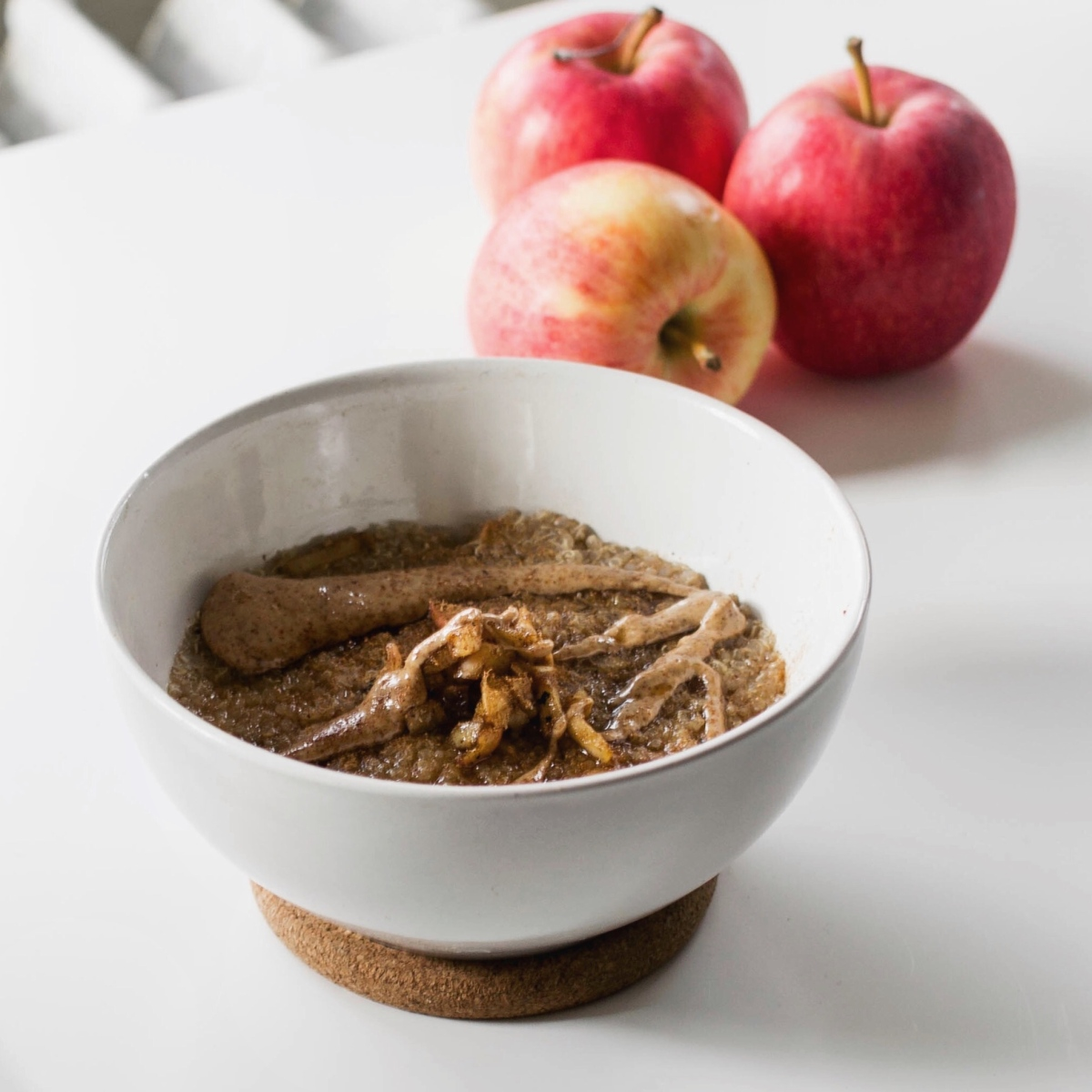 Spiced Apple Compote Quinoa Breakfast Bowl