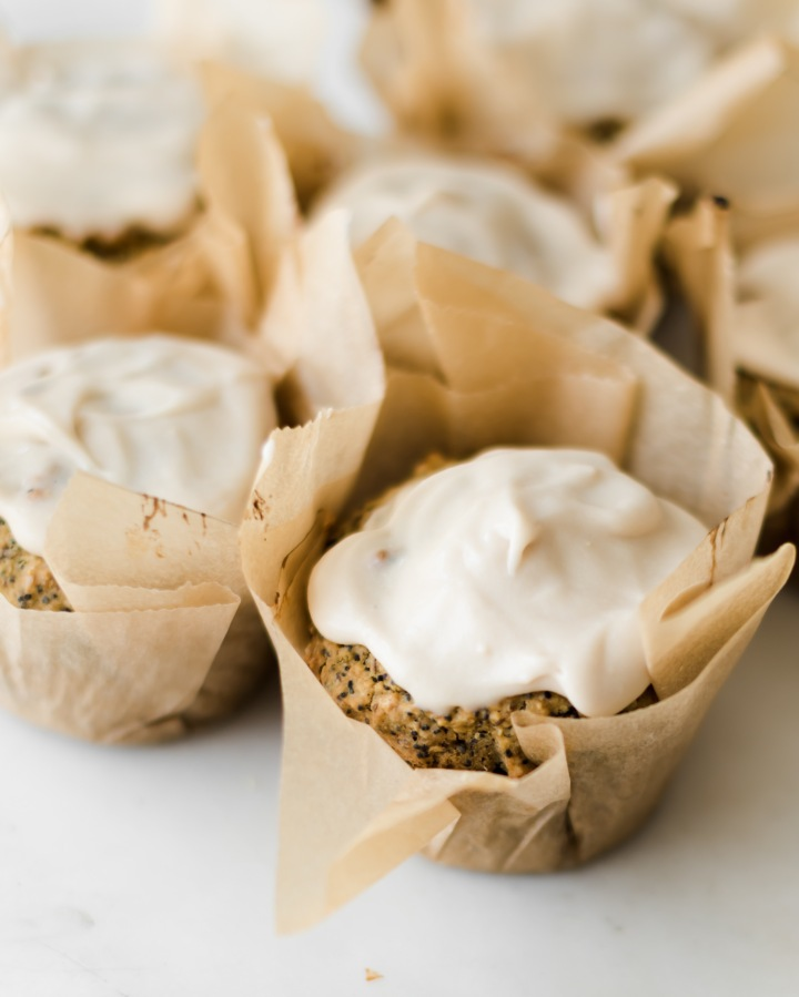 Vegan Lemon Poppyseed Muffins